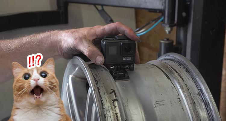เมื่อนำกล้อง GoPro ไปติดไว้ด้านในของยางรถยนต์ แล้วขับไปบนถนน ...เราจะเห็นอะไรบ้างนะ?